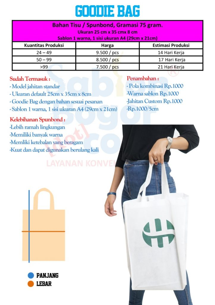 Goodie bag spunbond 75 gram